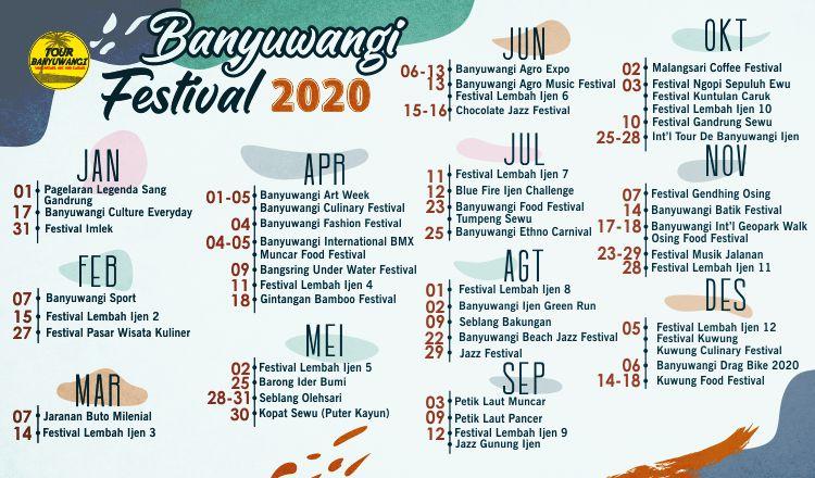 Jadwal Festival Banyuwangi 2020, Tanggal Festifal Banyuwangi 2020, Tour Banyuwangi.