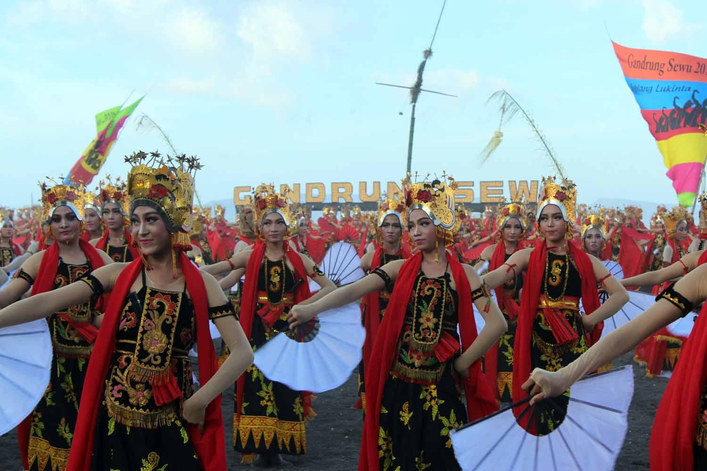 gandrung sewu 2016, banyuwangi festival, banyuwangi wisata