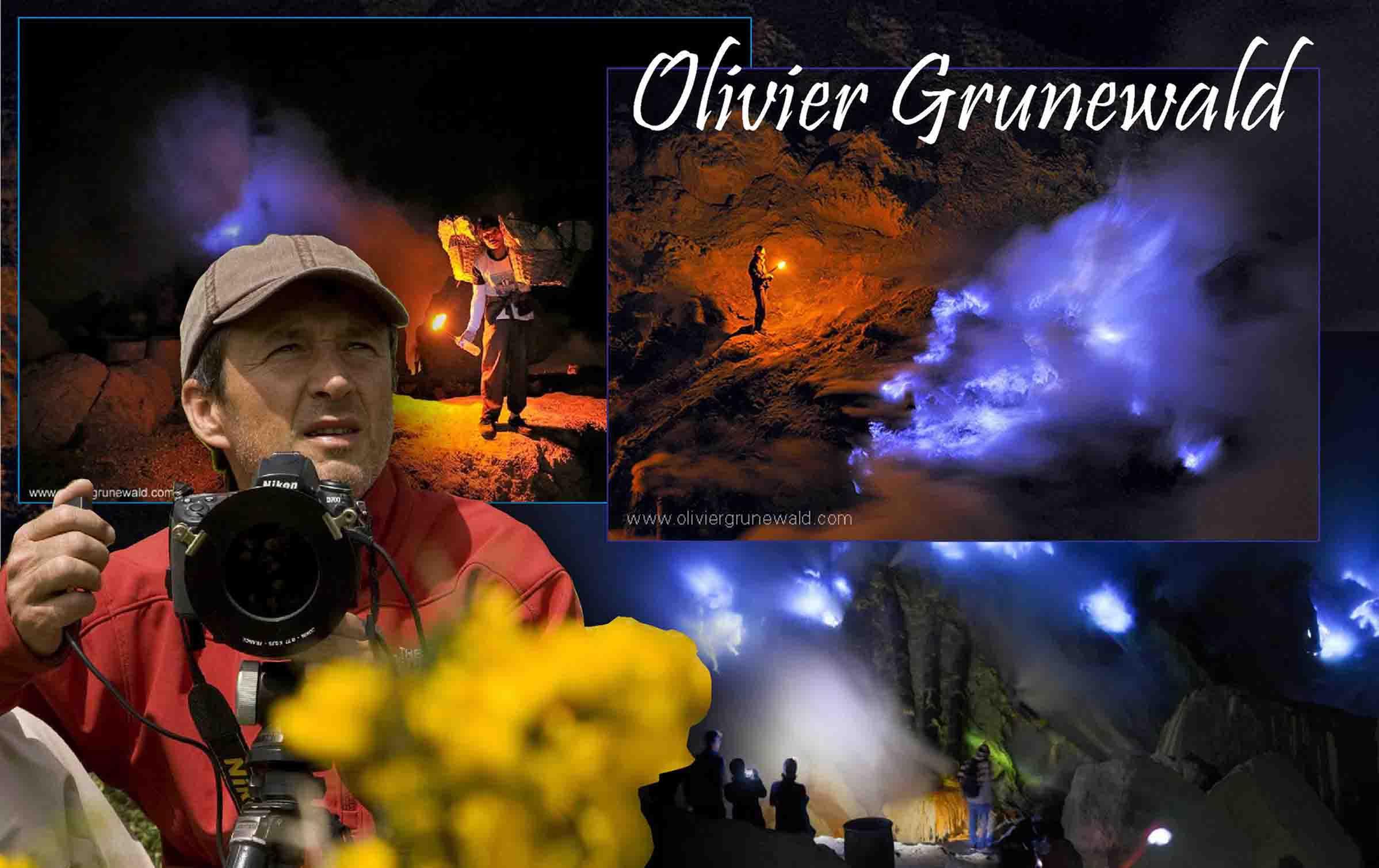 Olivier Grunewald, Foto api biru Kawah Ijen, Foto Kawah Ijen Blue Fire, fenomena blue fire di dunia, foto blue fire Banyuwangi