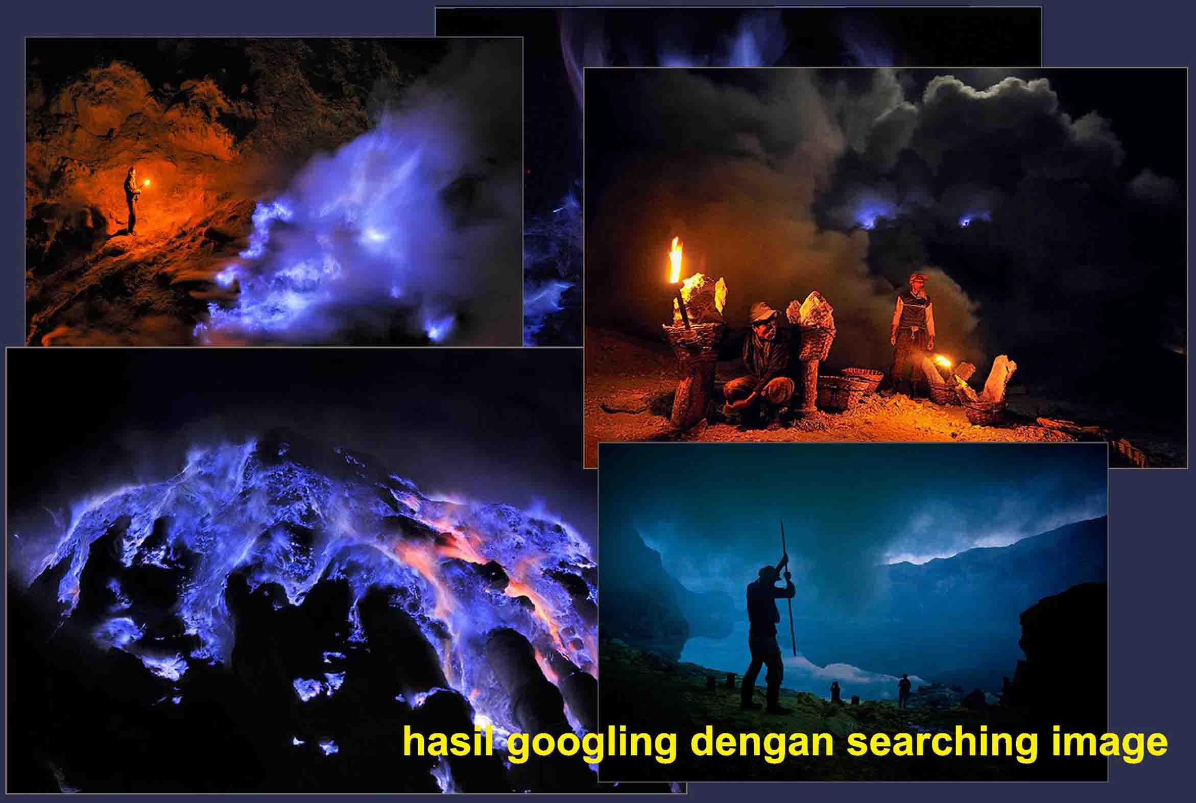 Foto api biru Kawah Ijen, Wisata Kawah Ijen Banyuwangi Blue Fire, wisata blue fire Banyuwangi