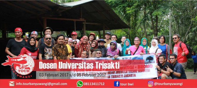 Dosen Universitas Trisakti Trip to Banyuwangi