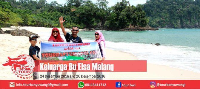 Keluarga Bu Elsa Malang Trip to Banyuwangi with Tour Banyuwangi