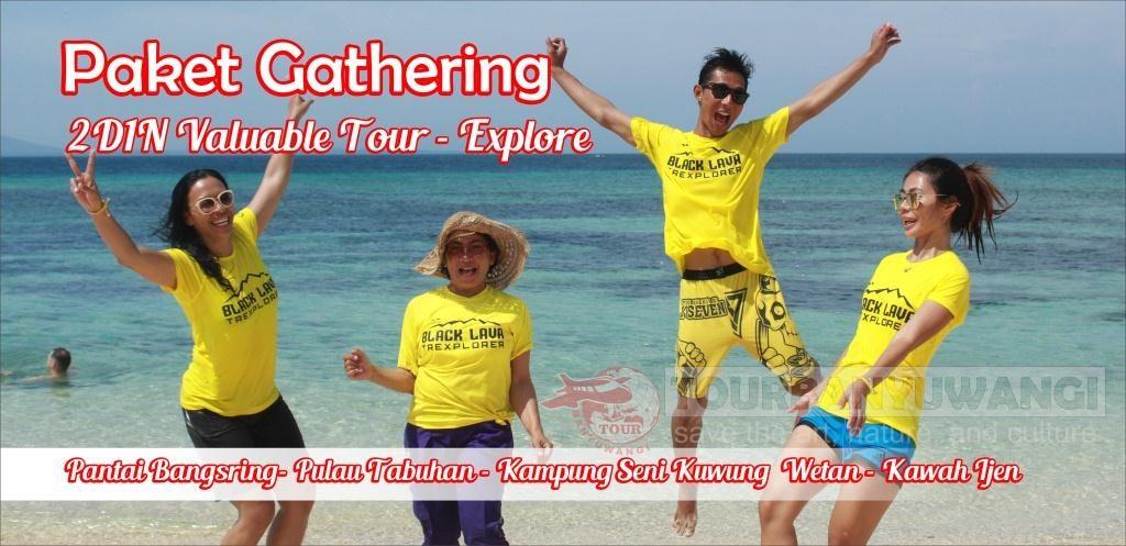 acara gathering perusahaan, objek wisata banyuwangi, bangsring underwater banyuwangi