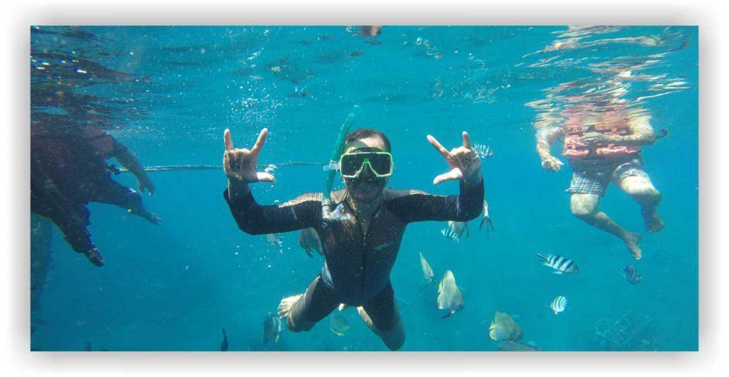 Bangsring underwater, snorkling rumah apung banyuwangi