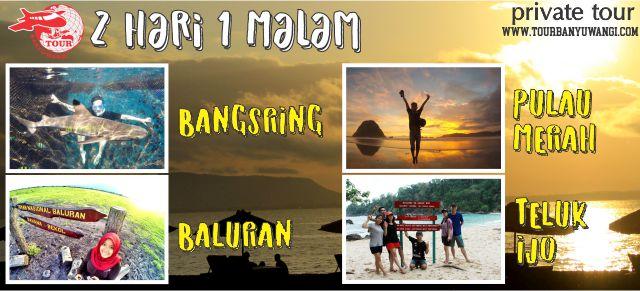 Paket Wisata Banyuwangi 2H1M (Pulau Merah – Teluk Hijau – Pantai Rajegwesi – Taman Nasional Baluran – Bangsring Underwater)